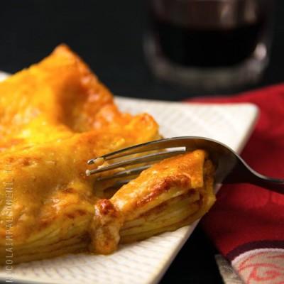 Lasagne (gluten free e lactose free) con pomodoro e mozzarella di bufala...