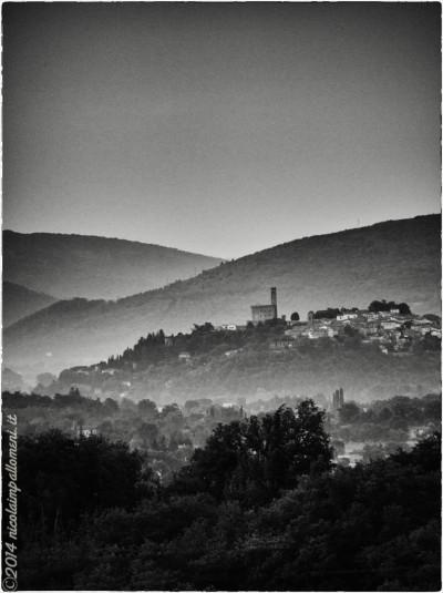 Alba sul Castello di Poppi