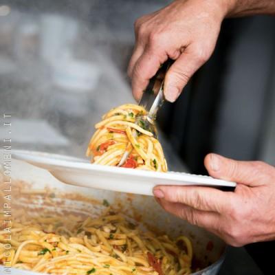 Italian pasta serving